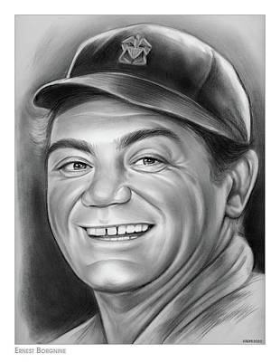 Drawings Royalty Free Images - Ernest Borgnine - Pencil Royalty-Free Image by Greg Joens