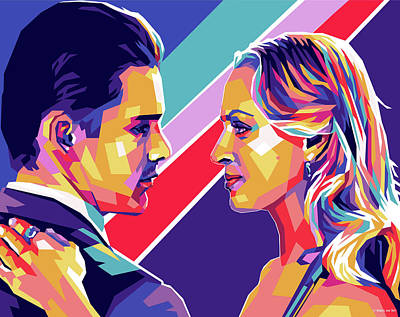 Royalty-Free and Rights-Managed Images - Ethan Hawke and Uma Thurman - Gattaca by Stars on Art
