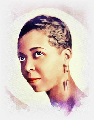 Animals Paintings - Ethel Waters, Music Legend by John Springfield