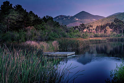 Photograph - Evening at the Lake  by Alison Frank
