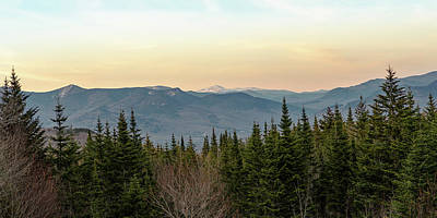 Photograph - Evening Light in the New Hampshire White Mountains by William Dickman
