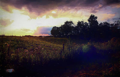 Marvelous Marble - Evening Meadow by Jennifer Donohoe