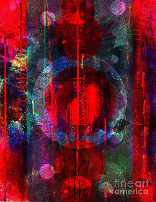 Mixed Media Royalty Free Images - Evening Reflections Royalty-Free Image by Diamante Lavendar