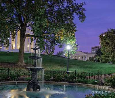 Design Turnpike Books Royalty Free Images - Evening Surrounds the Capitol Grounds Royalty-Free Image by Ava Reaves