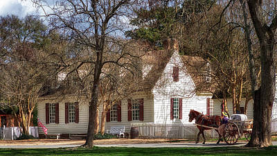 Kids Cartoons - Everard House - Colonial  Williamsburg by Susan Rissi Tregoning