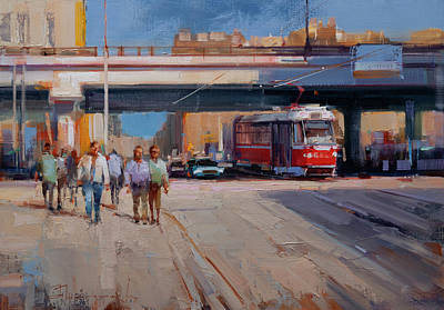Painting - Everyday life of the Moscow tram. by Alexey Shalaev