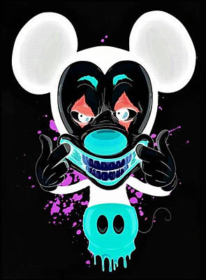 Keith Richards - MICKEY MOUSE JOKER in NEGATIVE by Rob Hans