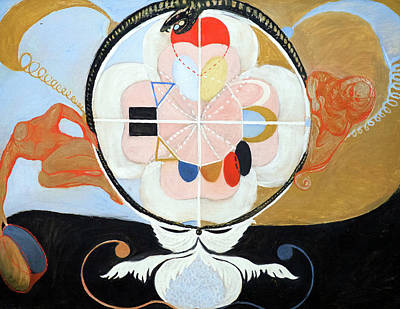 Coy Fish Michael Creese Paintings - Evolution 13 by Hilma af Klint