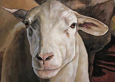 Painting - Ewe Detail by Joan Frimberger