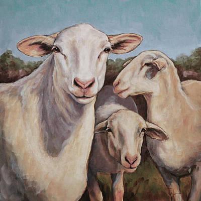 Painting - Ewe Talkin' To Me? by Joan Frimberger