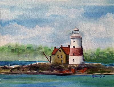 Painting - Execution Rocks Lighthouse by Barbara Busenbark