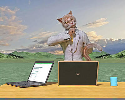 Surrealism Digital Art - Executive Decisions  by Betsy Knapp