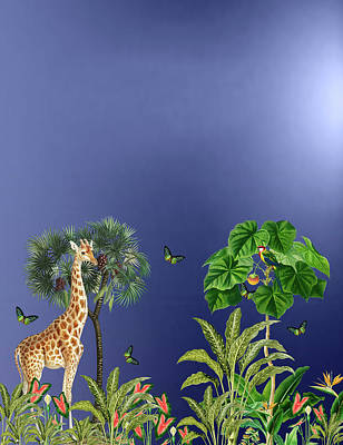 World Forgotten Rights Managed Images - Exotic And Colorful Jungle Design 2 Royalty-Free Image by Johanna Hurmerinta