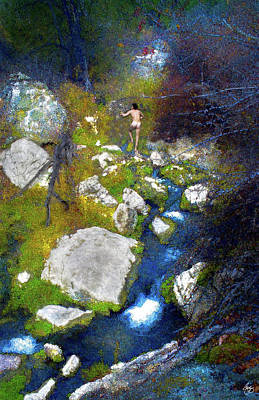 Valentines Day - Exploring the Hotsprings, after Seurat by Wayne King