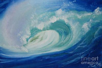 Painting - Eye of Wave by Elizabeth Oertel