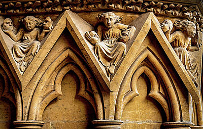 Classic Golf - Facade Detail - Metz Cathedral, France by Elvira Peretsman