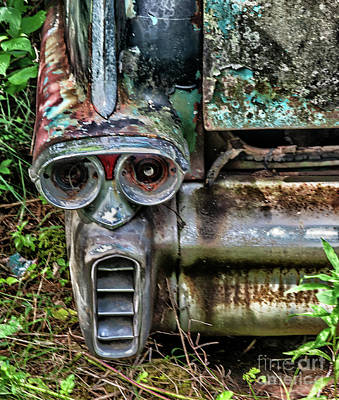 Namaste With Pixels Royalty Free Images - Face in the bumper of a classic car Royalty-Free Image by Robert McAlpine