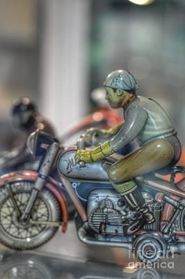 Photograph - Fading Biker by Karen Nadine