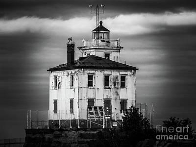 Lady Bug - Fairport Harbor West Breaker Lighthouse  by Michael Krek