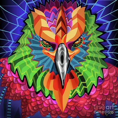 Digital Art - Falcon in Dubai 2020 by Remy Francis