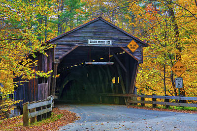 Beastie Boys - Fall Foliage and Durgin Covered Bridge by Juergen Roth