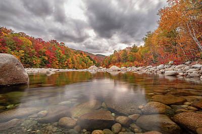 Photograph - Fall Foliage on the East Branch Pemigewasset River II by William Dickman
