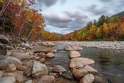 Photograph - Fall Foliage on the East Branch Pemigewasset River III by William Dickman