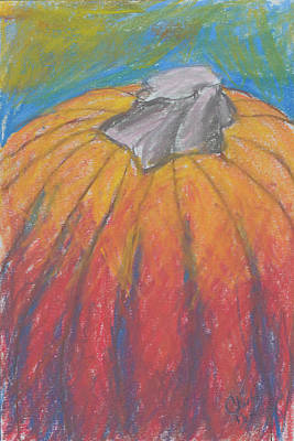 Pastel - Fall Harvest Pumpkin by Charlotte DeMolay