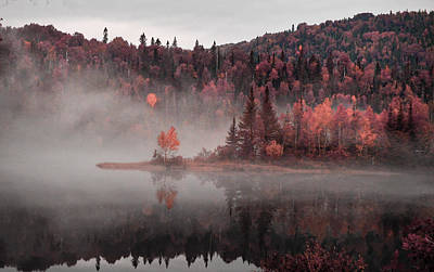 New Years Royalty Free Images - Fall Lake - Surreal Art by Ahmet Asar Royalty-Free Image by Celestial Images