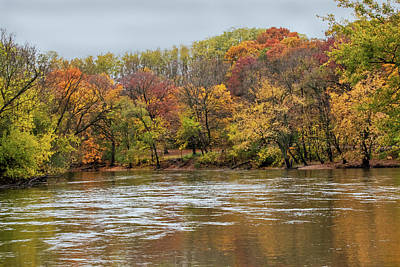 Ira Marcus Royalty-Free and Rights-Managed Images - Fall on the Fox River by Ira Marcus