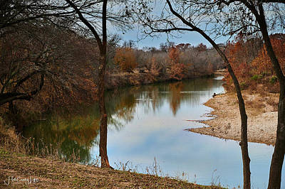 Photograph - Fall on the Pedernales by Miguel Lecuona