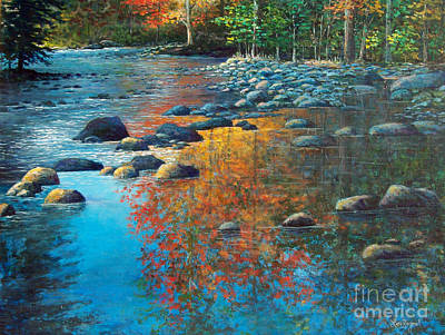 Painting - Fall Reflections by Lou Ann Bagnall