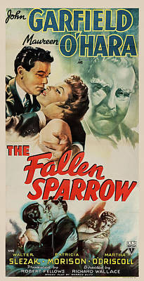 Royalty-Free and Rights-Managed Images - Fallen Sparrow 2, with John Garfield and Maureen OHara, 1943 by Stars on Art