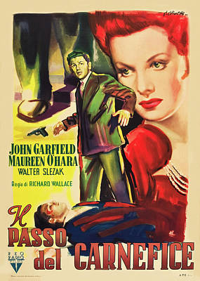 Royalty-Free and Rights-Managed Images - Fallen Sparrow, with John Garfield and Maureen Ohara, 1943 by Stars on Art