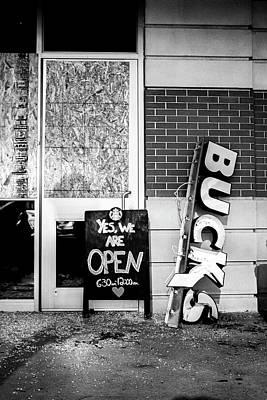 Photograph - Fallen Star Bucks BW by D Justin Johns