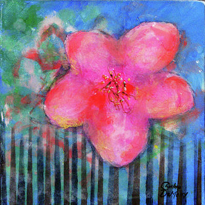 Mixed Media - Falling Bloom by Charlotte DeMolay
