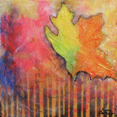 Mixed Media - Falling Leaf by Charlotte DeMolay