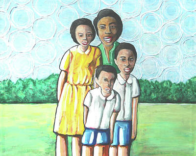 Painting - Family by John Pendarvis
