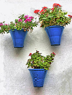 Studio Grafika Patterns Rights Managed Images - Famous Cordoba Blue Flowerpots # 2 Royalty-Free Image by Allen Beatty
