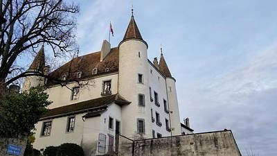 Wild And Wacky Portraits Rights Managed Images - Famous medieval castle in Nyon, Switzerland Royalty-Free Image by Elenarts - Elena Duvernay photo