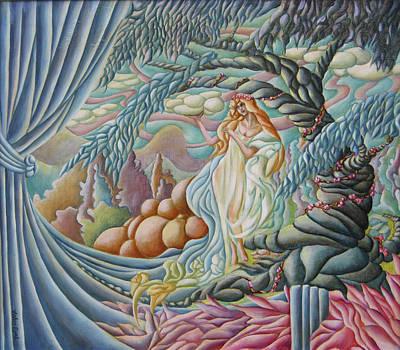 Painting - Fantasy In Blue by John Entrekin