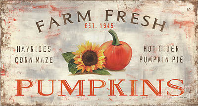 Royalty-Free and Rights-Managed Images - Farm Fresh Pumpkins 1 by Debbie DeWitt