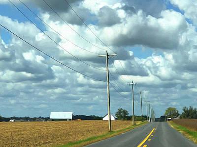 Digital Art - Farm Road by Wendy Erickson