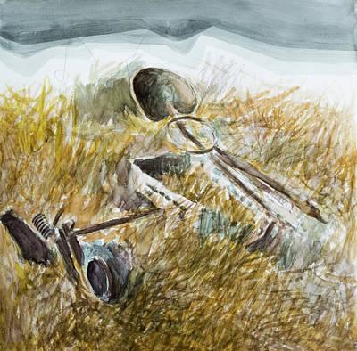 Painting - Farmosaurus by Hans Egil Saele