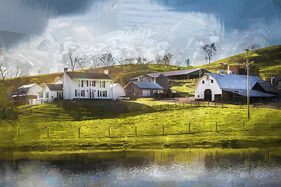 All Black On Trend - Farmstead By The Water by Jim Love