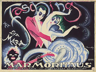 Mixed Media Royalty Free Images - Fasching, German movie poster, 1921 Royalty-Free Image by Stars on Art