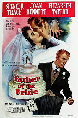 Royalty-Free and Rights-Managed Images - Father of the Bride, with Spencer Tracy and Elizabeth Taylor, 1950 by Stars on Art