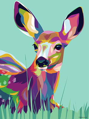 Royalty-Free and Rights-Managed Images - Fawn by Stars on Art