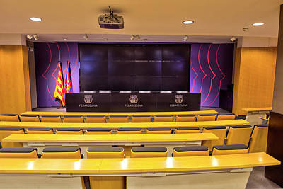 Wilderness Camping - FC Barcelona Press Room by David Pyatt