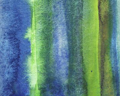 Royalty-Free and Rights-Managed Images - Feeling Ocean And Sea Beach Coastal Art Organic Watercolor Abstract Lines IX by Irina Sztukowski